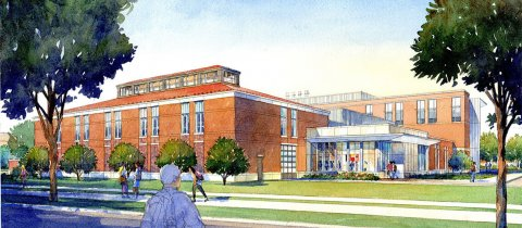 Animal Life Science Facility SE Rendered View