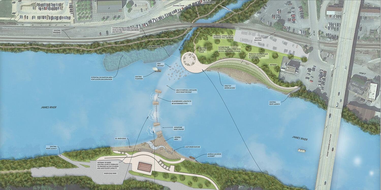 James River Master Plan Rendering